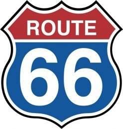 Route 66. Trafikskilt