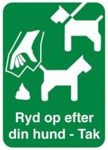 Ryd op efter din hund - Tak. Hundeskilt
