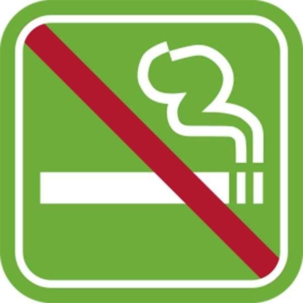 Rygning forbudt Grøn piktogram skilt