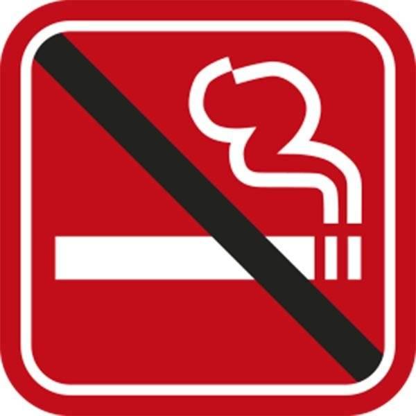 Rygning forbudt Rød piktogram skilt