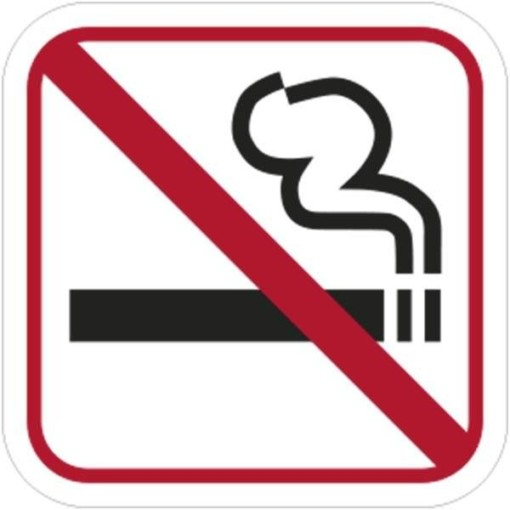 Rygning forbudt piktogram skilt