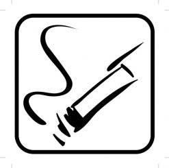 Rygning piktogram - piktogram. skilt