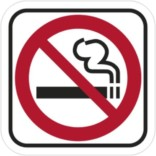 Rygning forbudt Rød forbud Piktrogram skilt