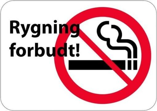 Rygning forbudt skilt
