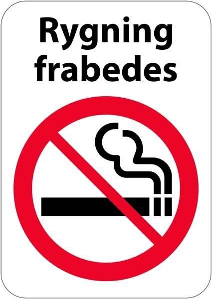 Rygning frabedes skilt