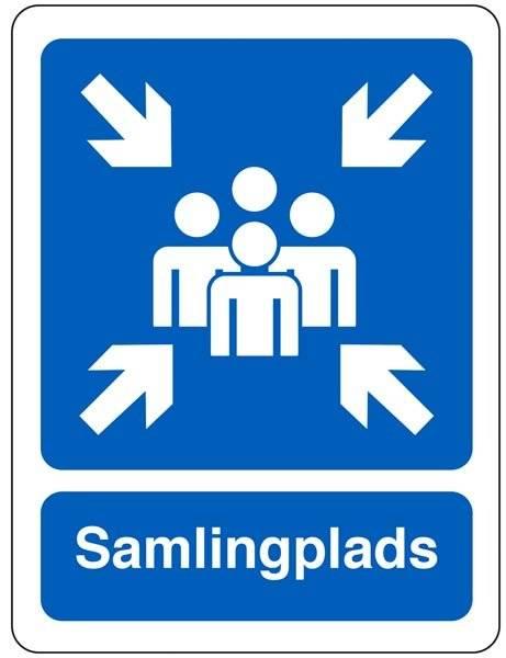 Samlingsplads Blå Piktogram skilt