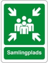 Samlingsplads grøn Piktrogram skilt