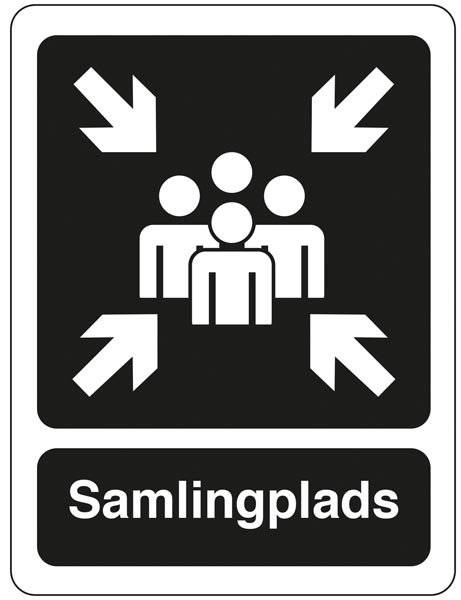 Samlingsplads Sort Piktogram skilt
