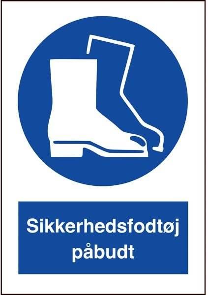 Sikkerhedsfodtøj påbudt skilt