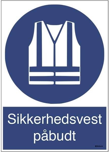 Sikkerhedsvest påbudt M015 ISO 7010. Påbudsskilt
