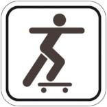 Skating - Piktogram skilt