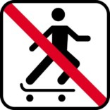 Skating forbud - piktogram skilt