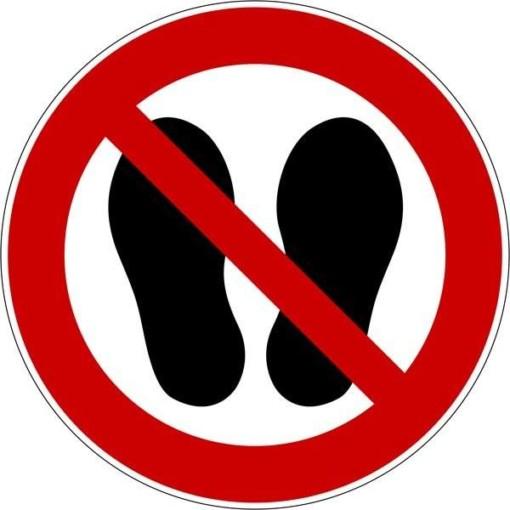 Sko forbud Skilt