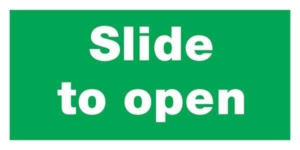Slide To Open Redningsskilte
