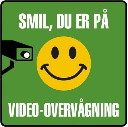 Smil du er på Video-overvågning Skilt