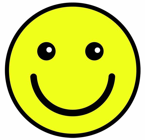Smiley Etiket 10 stk.