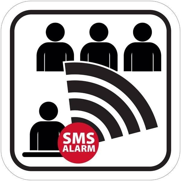 SMS alarm piktogram skilt