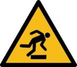 Snuble fare ISO_7010_W007.Advarselsskilt