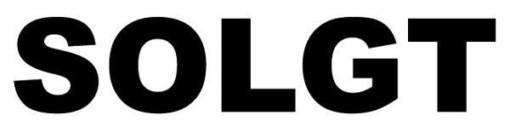 Solgt sort på hvid. folie skilt
