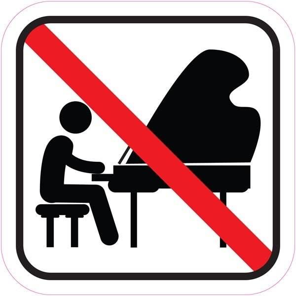 Spil forbudt. Piktogram skilt