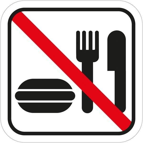Spisning forbudt - Piktogram skilt