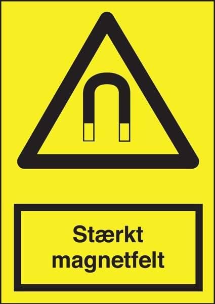 Advarselsskilt - Stærkt magnetfelt