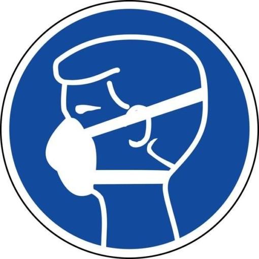 Støvmaske påbudsskilt