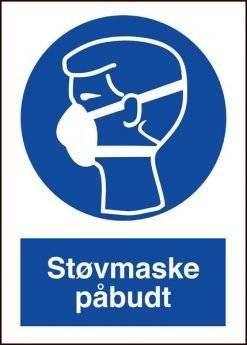 Støvmaske påbudt skilt