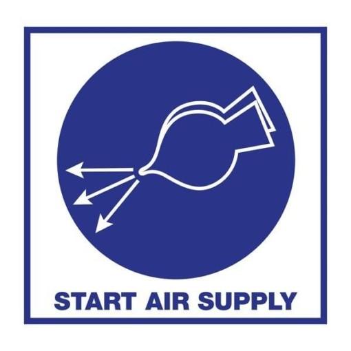 Start Air Supply. Redningsskilt