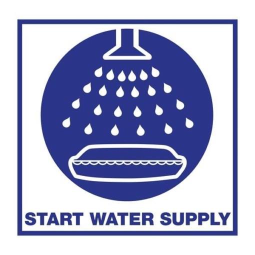 Start Water Supply. Redningsskilt