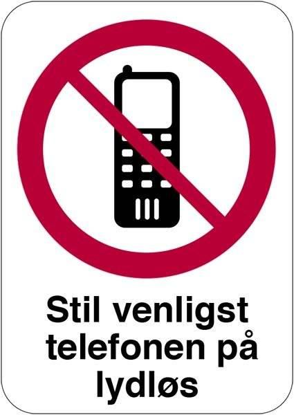 Stil venligst telefonen på lydløs skilt