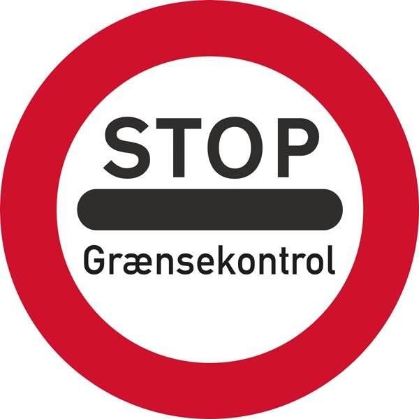 STOP Grænsekontrol. Forbudsskilt