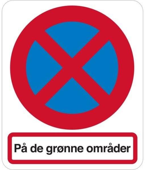 Stopforbud på de grønne områder skilt