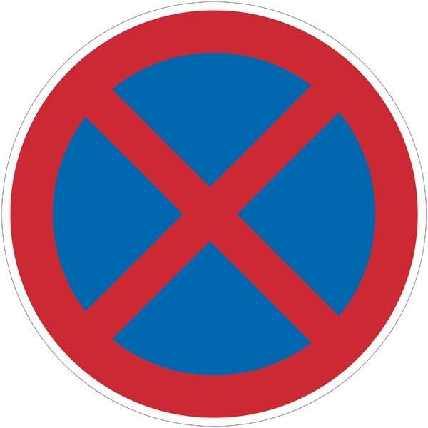Stopforbudsskilt. Forbudsskilt
