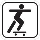 Skateboardkørsel - Piktogram skilt