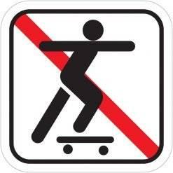 Skateboard forbudt skilte