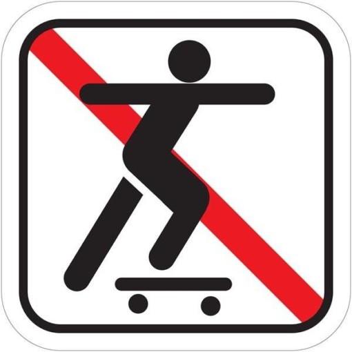 Skateboardkørsel forbudt Piktogram skilt