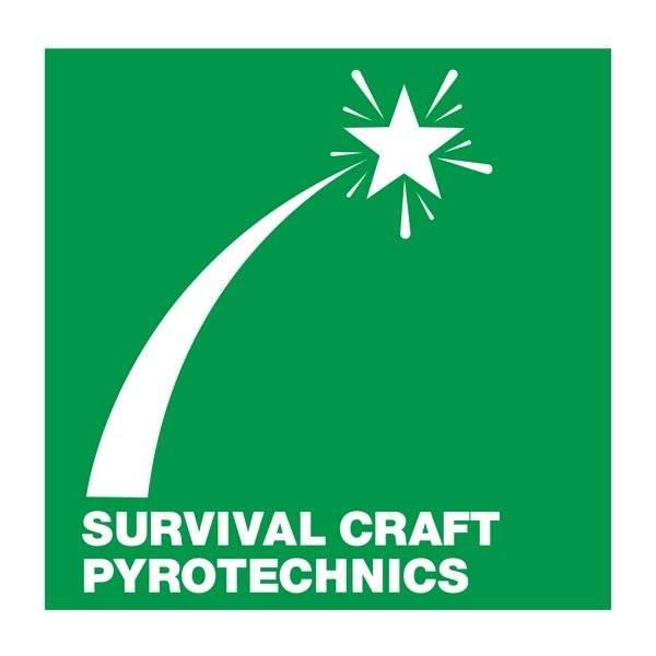 Survival Craft Pyrotechnics: Redningsskilt