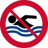 Forbudsskilt - Svømning forbudt