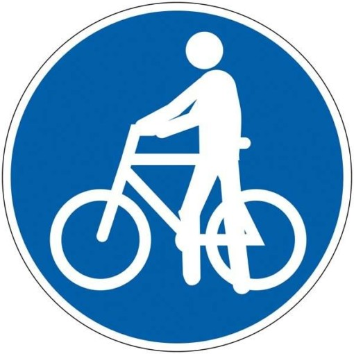 Trækning af cykel. Skilt