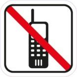 Telefon forbuds piktogram Skilt