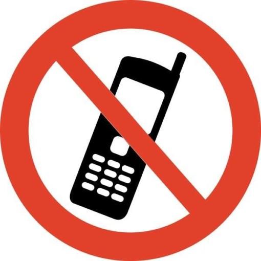 Telefon forbudt skilt