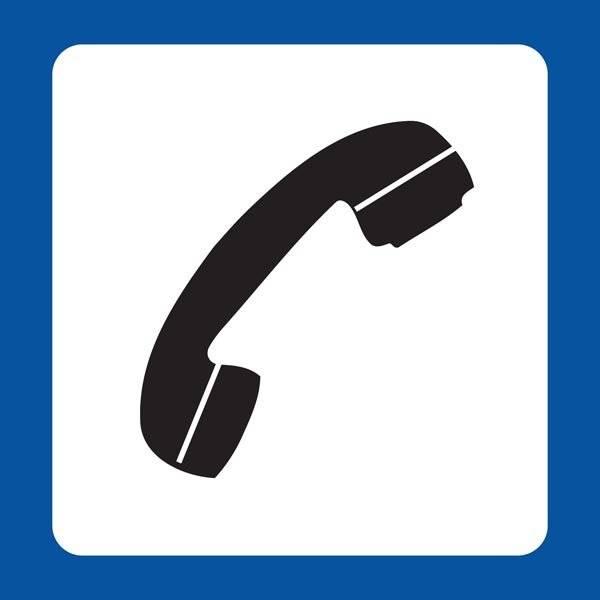 Telefon Piktogram skilt