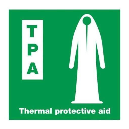 Thermal Protective Aid: Redningsskilt