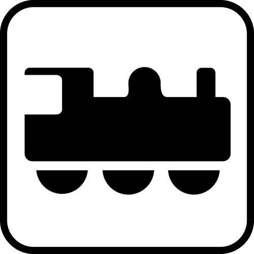 Tog - piktogram skilt
