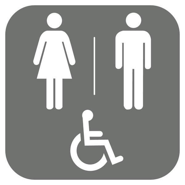 Dame mand handicap toilet Piktogram skilt