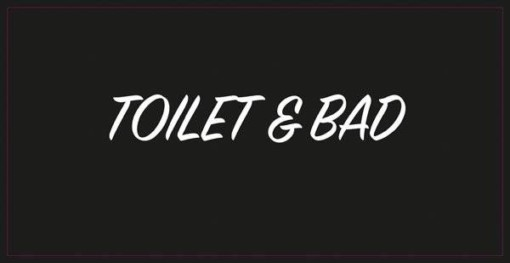 TOILET & BAD.Dørskilt