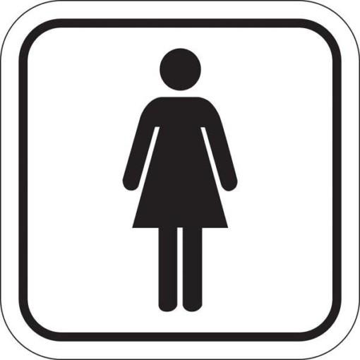 Toilet Dame. Toiletskilt
