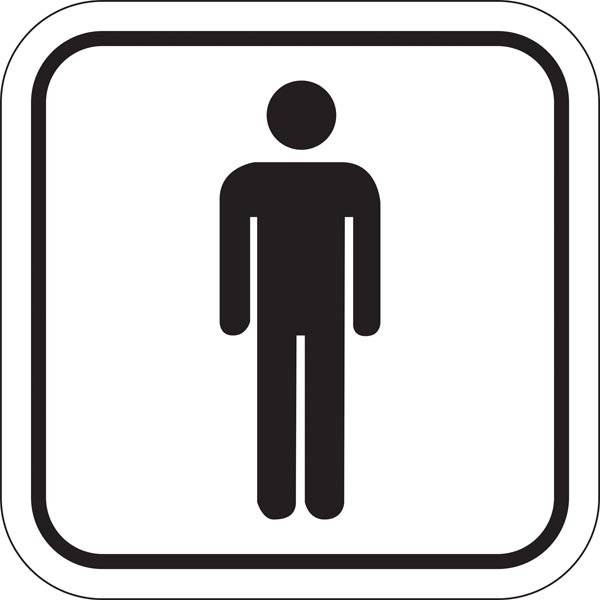 Toilet Herre. Toiletskilt