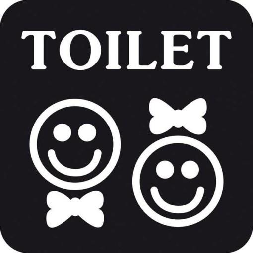 TOILET mand dame. Toiletskilt